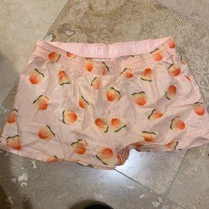 vs peach sleeping shorts
